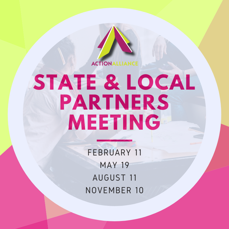 State and Local Partners Meeting ad with dates of meetings