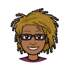 Bitmoji headshot of Angela Blount
