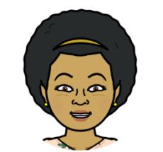 Bitmoji headshot of Tamara Mason