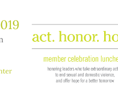 Flyer for the Action Alliance's annual Act. Honor. Hope. event in 2019.