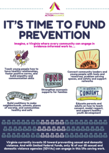 Infographic: It's Time to Fund Prevention with five stickers explaining the benefits of investing in prevention.